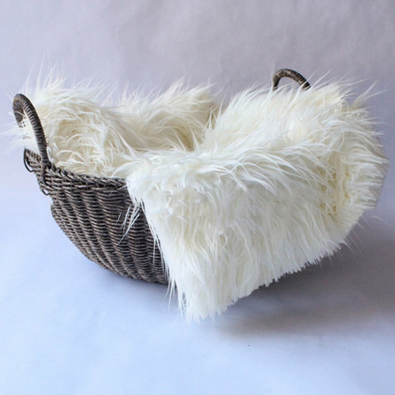 5080cm faux fur blanket newborn infant photography prop baby blankets swaddling for basket stuffer props z265 in receiving blankets from mother kids on