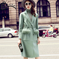 2016 latest couture fashion temperament big long thin slim temperament pure wool coat   v341