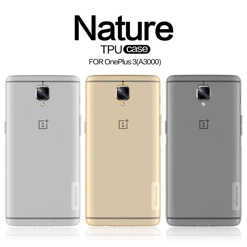 Oneplus 3 Case Cover NILLKIN Soft TPU Case Clear Transparent Rubber Silicone Cover For OnePlus Three Case One Plus 3T Smartphone