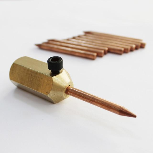 Support daiguilles à souder en cuivre, support de la réparation de la carrosserie automobile mini-mèche à souder de goujons de réparation de la machine outils pour les panneaux automobiles