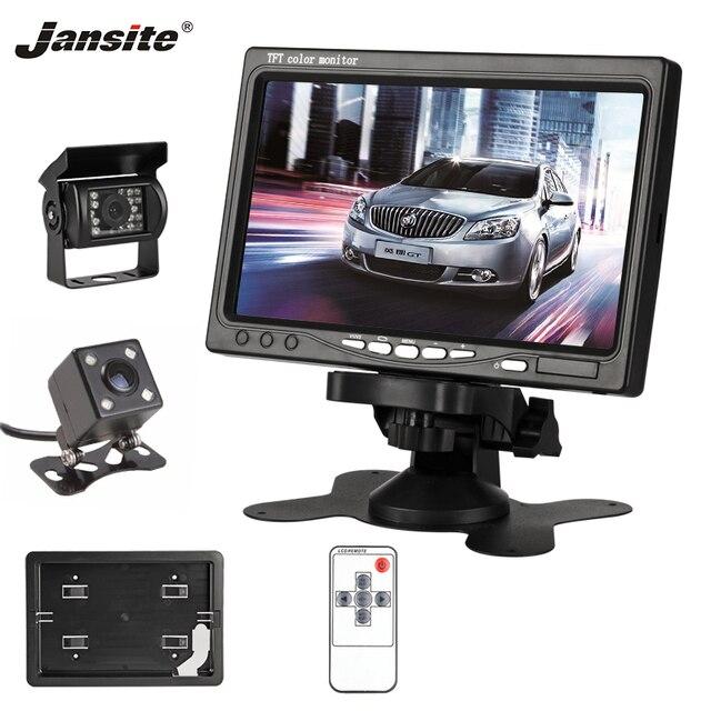 """Jansite 7 """"TFT LCD سيارة الرؤية الخلفية رصد HD عرض كاميرا عكس المساعدة كاميرا التغليف نظام ل 800x480 مركبة شاشات"""