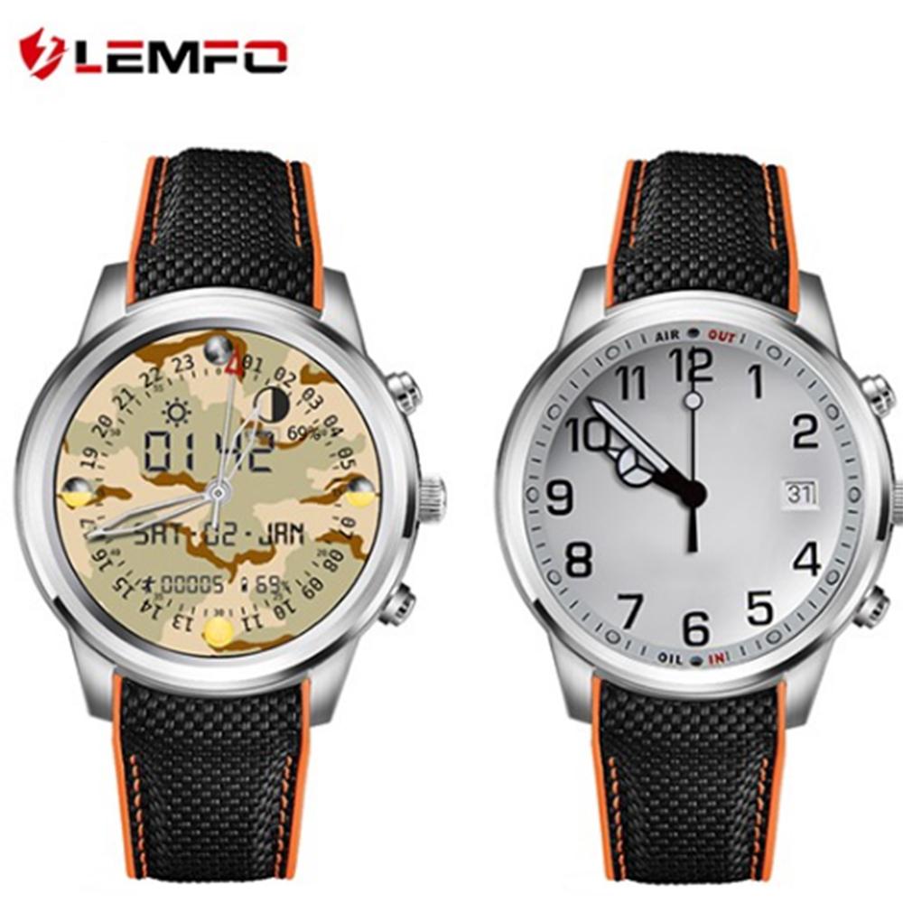 Prix pour Lemfo LEM5 Android 5.1 OS Smart Watch téléphone MTK6580 1 GB + 8 GB soutien WIFI GPS Moniteur de Fréquence Cardiaque Montre-Bracelet