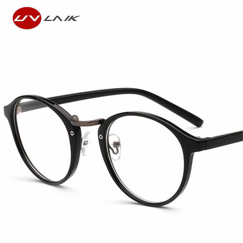cad2b99c4415 ... UVLAIK Optical Glasses Frame Boston Eyeglasses Round Myopia Frames  Women Clear Transparent Glasses Women s Men s Flower ...