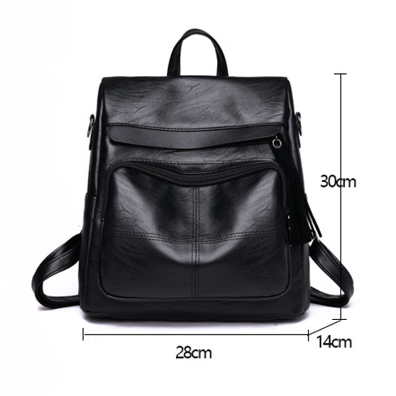 2018 fashion Women Travel Backpack PU Leather Purse Zipper Girl School Bag Casual Shoulder Bags BS88