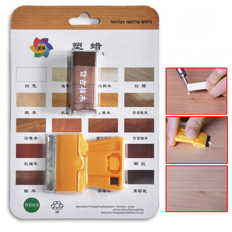 Furniture Crayon Wood Repairing Wax Furniture Repair Wax Filler Repair Pencil Deep Scratched Seaming Caulk Free Shipping 1pcs