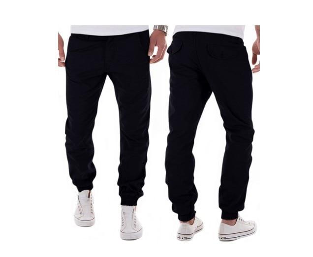 2017 autumn winter Men pants 100% cotton men workout pants solid color mens joggers men pants casual trousers