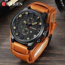 แบรนด์หรู CURREN 8225 นาฬิกา Mens กีฬาทหารนาฬิกาผู้ชายควอตซ์นาฬิกาผู้ชาย Analog นาฬิกาข้อมือหนัง Relogio Masculino