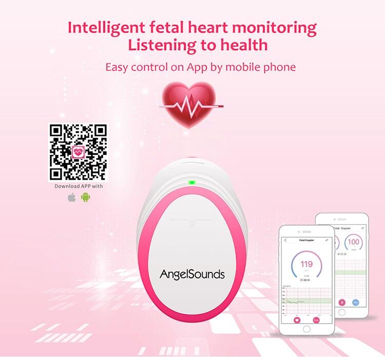 App based Fetal Doppler Baby Heartbeat Monitor