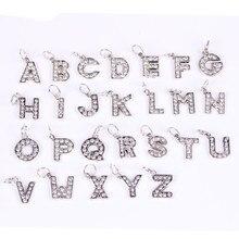 Letter A to Z Pendant Free Shipping 925 Silver European Beads Fits Pandora Charms Bracelets & Pendants DIY Jewelry Women Gift