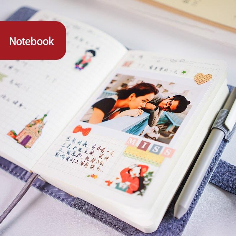 Image 2 - Clássico pano escritório escola notebook artigos de papelaria  vintage sem pessoa aglutinante diário agenda planejador semanal  organizador a5 a6Cadernos