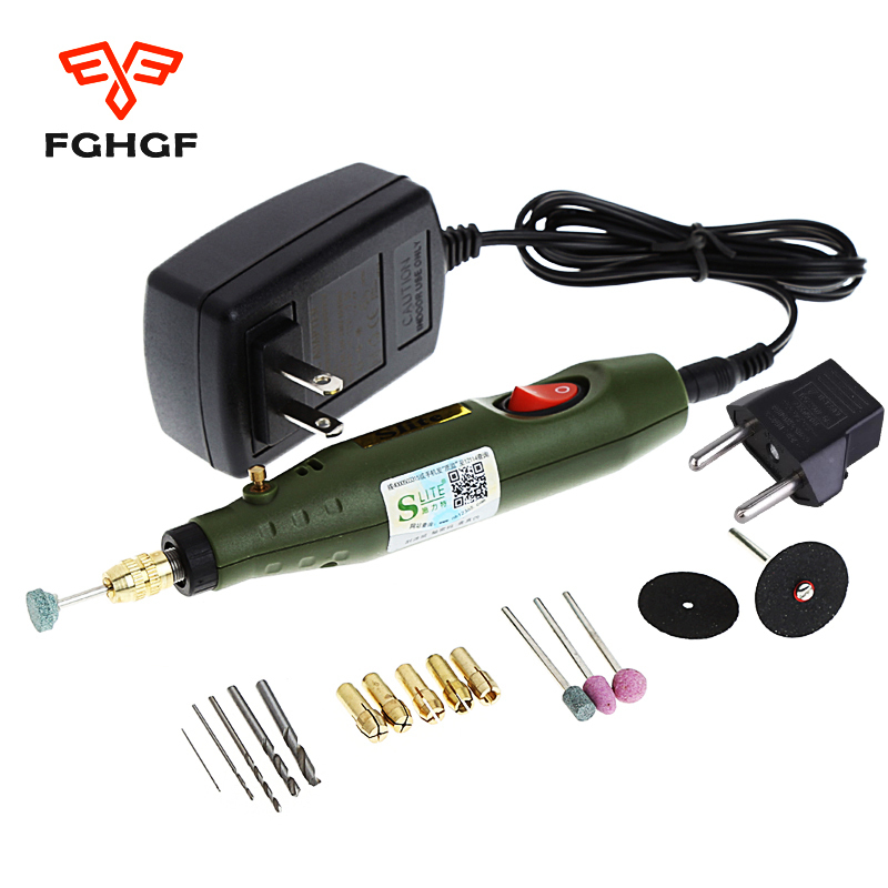 FGHGF 220V Power Tool Engraving Pen Mini Electric Grinder Polishing Mill Small Cutting Manual Drilling Machine Power Tools