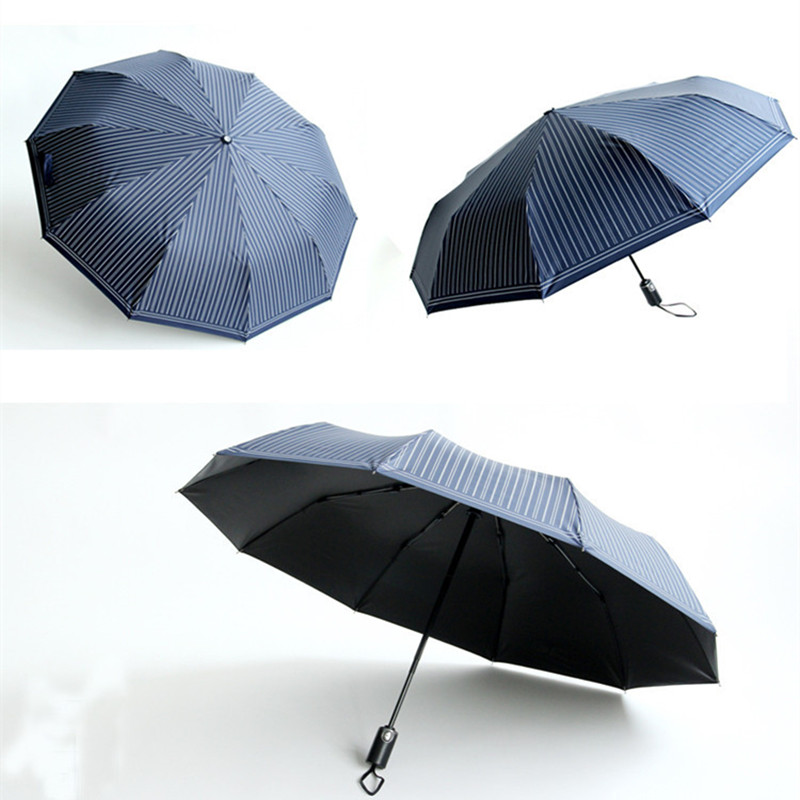 Quality 10 Rib Strong Automatic men's umbrellas folding /windproof - Household Merchandises - Photo 6