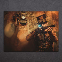 1 Pieces Steampunk Vintage Poster Wall Art Canvas Pictures For Living Room Bedroom Home Decor Printed Canvas Paintings