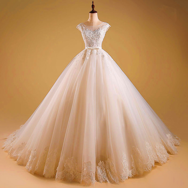 2017 Puffy Soft Tulle Ball Gown Wedding Dresses With Belt Lace Up Bridal Gowns Customize