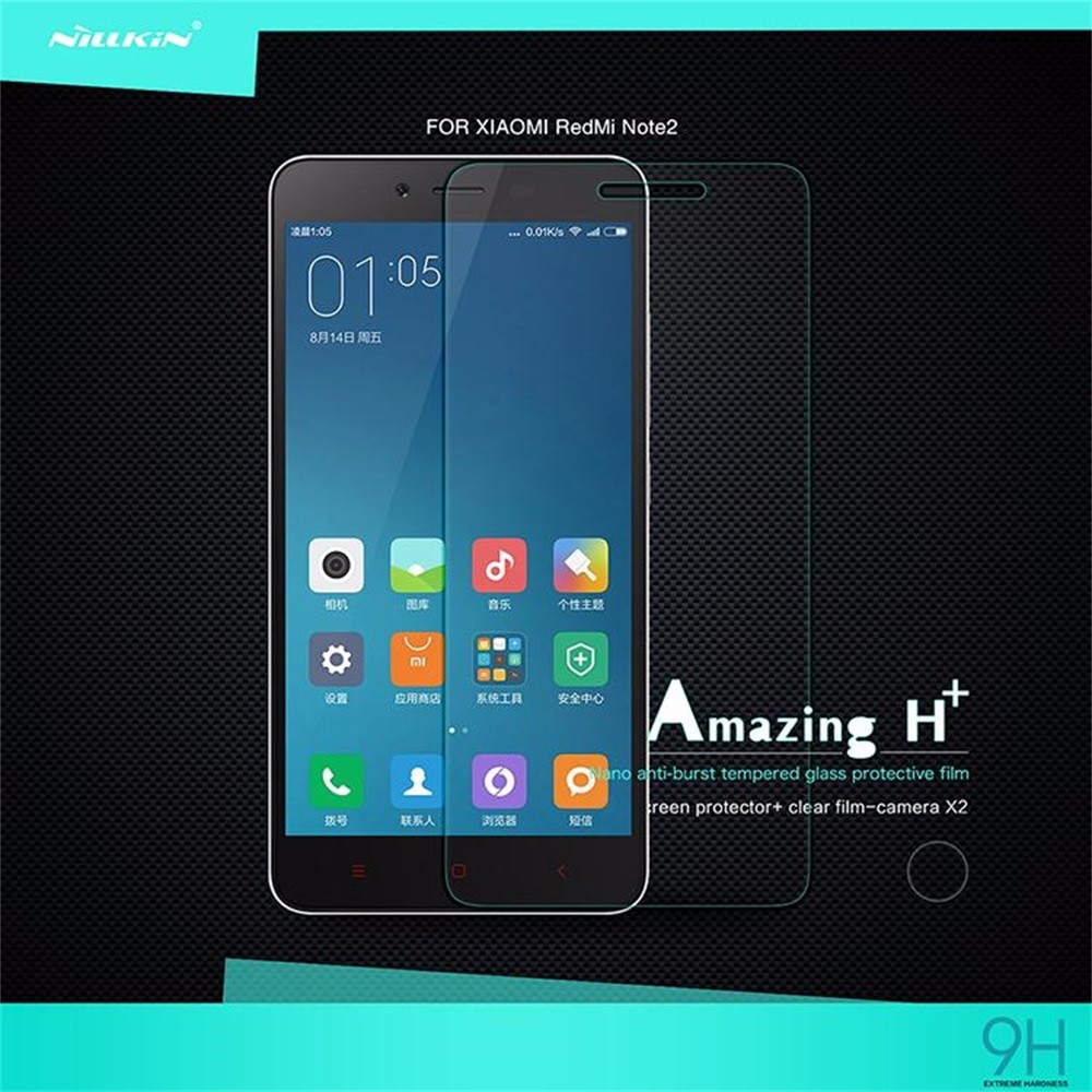 Xiaomi Redmi Note 2 Glass Tempered Nillkin Amazing H+ 2.5D Screen Protector for Xiaomi Redmi Note 2 Protection Glass
