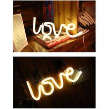 Aşk Neon ışıkları LED şekli aşk itirafı noel dekorasyon ışıkları Neon ışıkları aşk modelleme ışık LED ışık ночник светильн