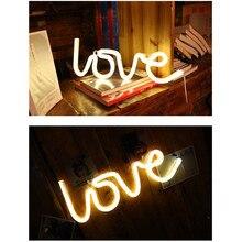 사랑 네온 불빛 LED 모양 사랑 고백 크리스마스 장식 조명 네온 조명 모델링 빛 LED ночник светильн