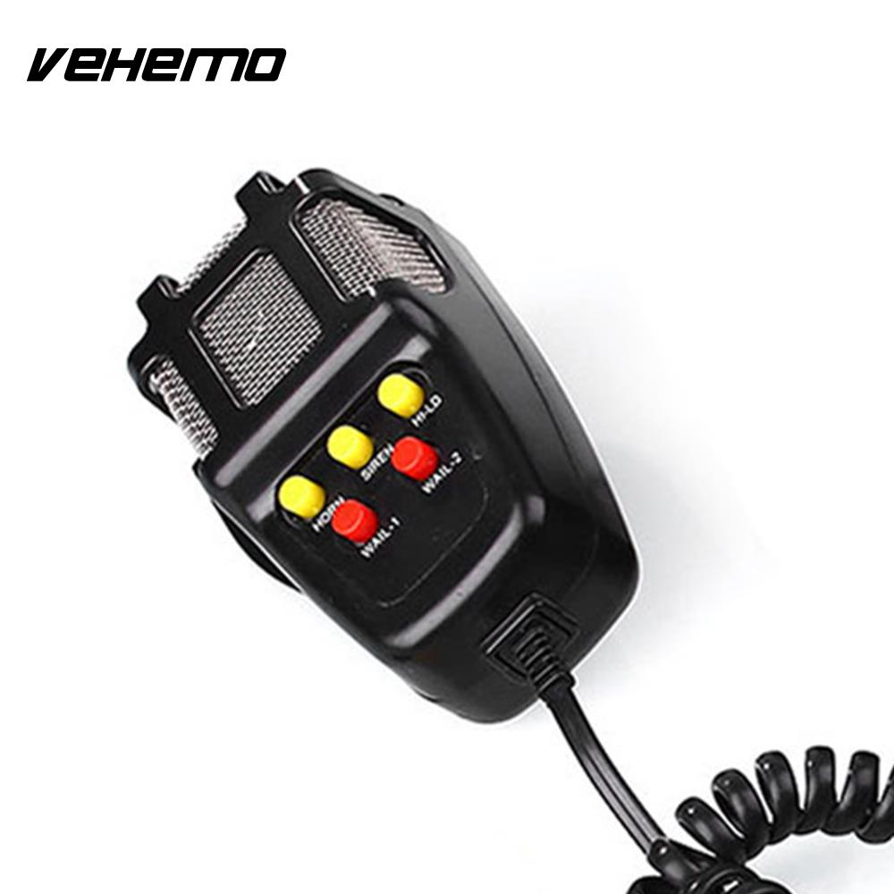 Loud Horn 12V PA Speaker Air Horn Siren Portable Truck Auto Horn Universal Police Car Horn Car Warning