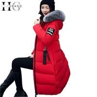 HEE GRAND Winter Women Down Parkas Fur Collar Elegant Overcoat Long Snow Coat Warm Thickness Feathers