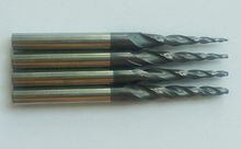 Free shipping  90pcs HRC55 carbide Coated Tapered Ball Nose End Mills