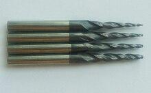 Freies verschiffen 90 stücke HRC55 hartmetall Beschichtete Kegelkugelkopffräser
