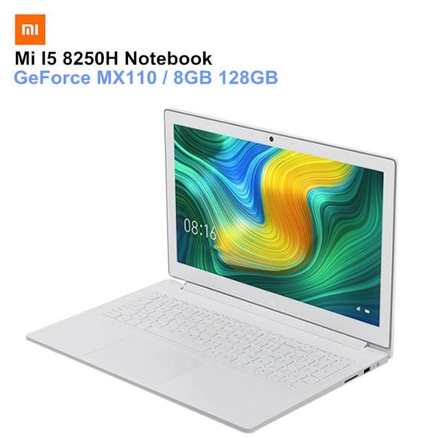Xiaomi Mi Notebook 15.6inch Windows 10 Bluetooth PC Intel Core I5-8250H GeForce MX110 Quad Core 8GB 128GB Laptops
