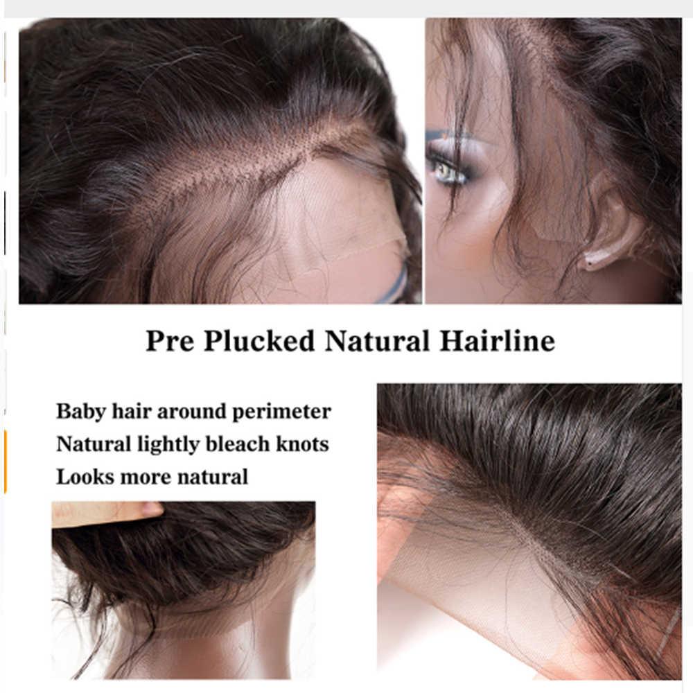 Eversilky 360 синтетические волосы на кружеве al человеческие Искусственные парики с Синтетические чёлки волос для женщин Бразильский пряди