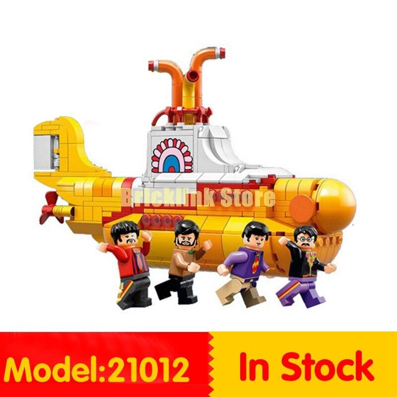 Lepin 21012 The Beatles John Winston Lennon Paul McCartney Harrison Ringo Starr Yellow Submarine Building Blocks Models Toys ringo starr ringo starr y not