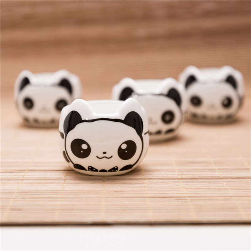 1 Pot 4 Cups 2017 Hot Sale Lovely Chinese Ceramic Panda teapot cup tea set Drinkware Souvenir Gift tea water bottle in Teaware Sets from Home Garden