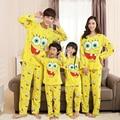 Familia familia mirada manga larga ropa de dormir pijamas a juego lindo Bob Esponja pijama de mama e hija 2 unids pigiama navidad