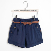 S-5XL Plus Size Women Summer Cotton Casual Shorts Without Belt Fashion Mid-Waist Solid Slim Short femme