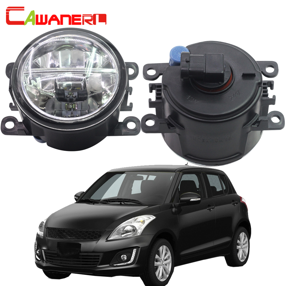 Cawanerl For Suzuki Swift MZ EZ Hatchback 2005-2015 2 Pieces Car LED Bulb 4000LM Fog Light DRL Daytime Running Lamp White 12V система освещения for all car 2 7w 18 led drl