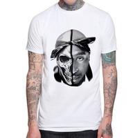 Tupac Thug Life Tattoo T Shirt Mens 2PAC Hip Hop Festival Rapper Tops Tee Shirt Music