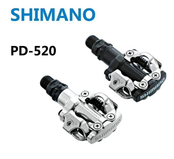 Shimano PD-M520 Vélo pédales SPD Racing Vtt VTT Vélo pédales PD M520 Taquet Plat Auto-Verrouillage Clipless Pièces