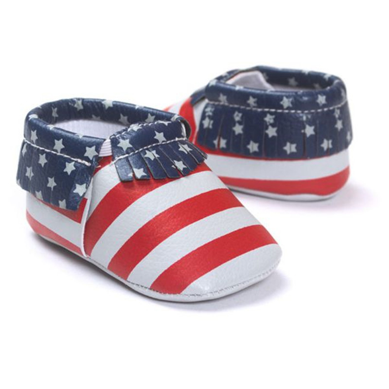 Free Shipping Tassels13-Color PU Leather Baby Shoes 2016 Moccasin Newborn Shoes Soft Infants Crib Shoe Sneakers First Walker