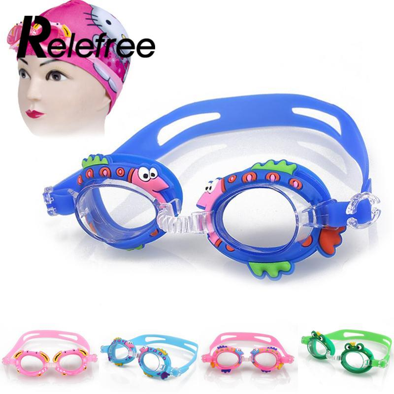 1 pcs Cartoon Swimming Glasses Kids Boys Girls Outdoor Anti Fog Waterproof swimming goggles Summer swimming pool