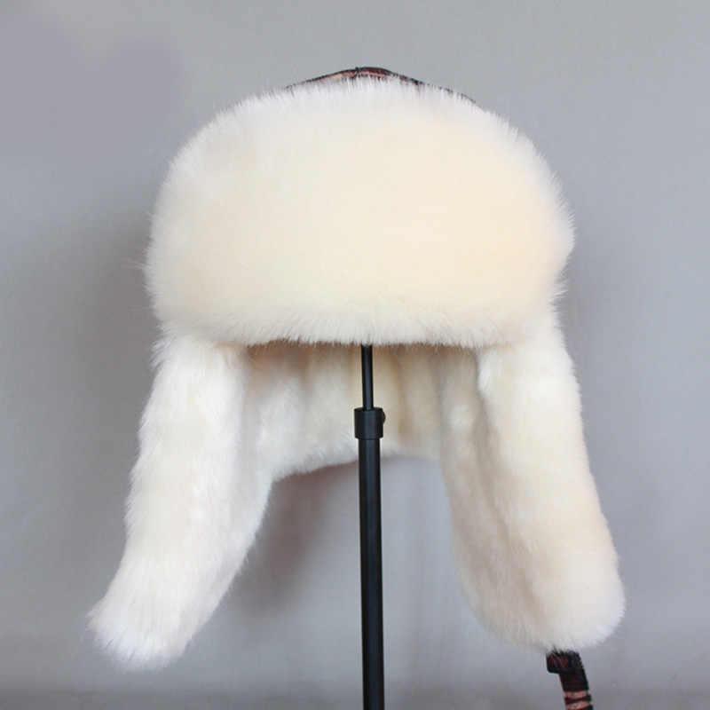 ZDFURS * Зимние теплые наушники шапки-ушанки для мужчин и женщин русский Охотник теплая шапка Trooper Earflap Снежная Лыжная шапка маска для лица