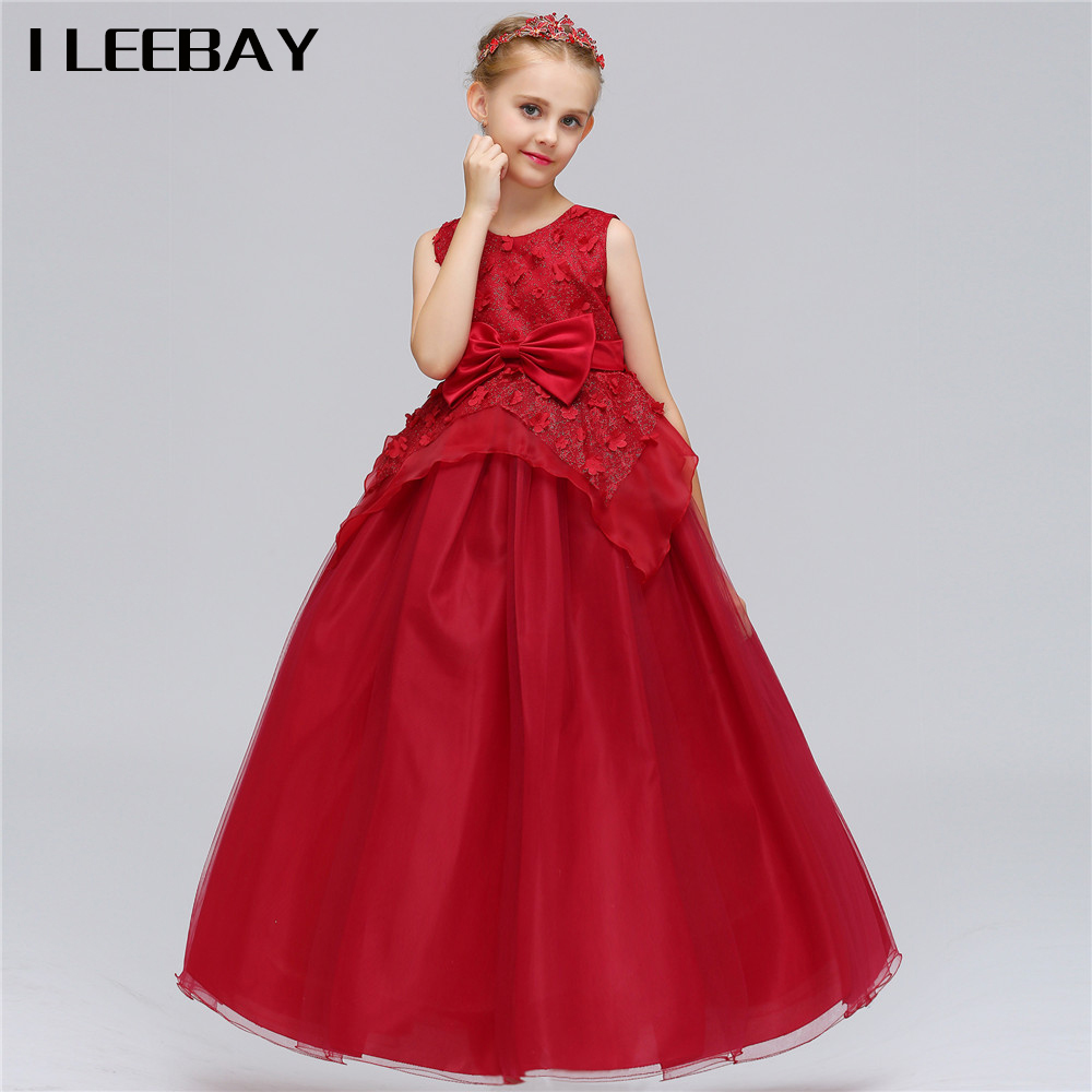 Floor-length Kid Princess Dress for Girls Fashion Elegant Dress Children Petal Carnival New Year's Costumes Toddler Girl Clothes azel elegant latest new child dress for 2 3 year old girls vestidos fashion summer kid clothing little girls daily clothes 2017