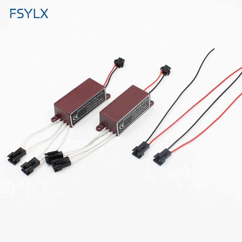 FSYLX CCFL Inverter For Car LED Angel Eyes Halo Ring CCFL Spare Ballast For BMW E46 E39 E38 E36 E32 E34 LED CCFL Ballast Igniter