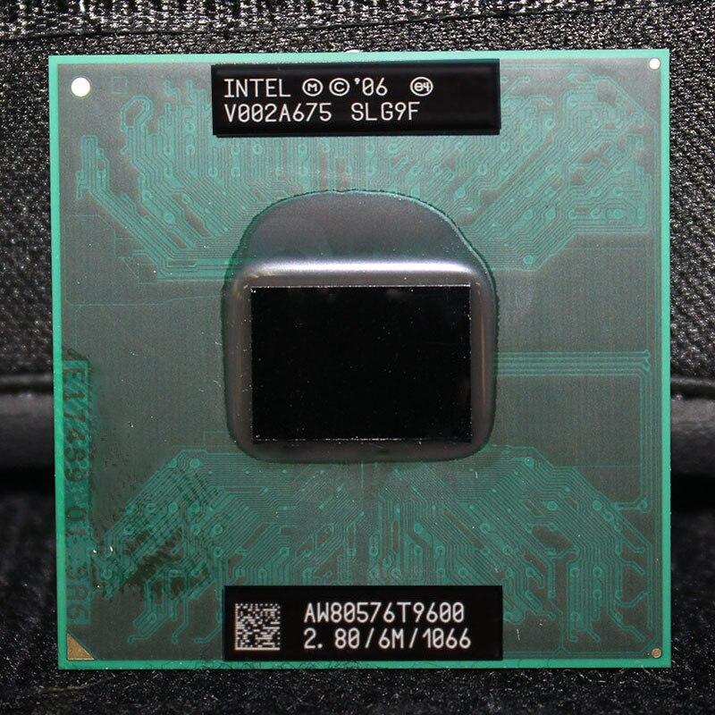 Intel Core Duo 2 T9600 Móvel 2.8GHz 1066 MHz 6 M Processador CPU Laptop