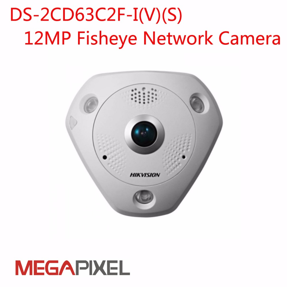 CCTV IP Camera 12mp 4K Camcorder fisheye DS-2CD63C2F-IVS 128G PoE  Alarm audio Speaker  hik-connect iVMS4200 iVMS4500 8mp ip camera cctv video surveillance security poe ds 2cd2085fwd is audio for hikvision dahua dvr hik connect ivm4200 camcorder