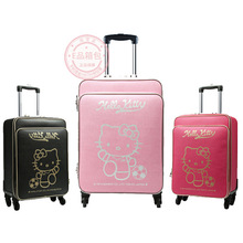 0254ecb72e New Cartoon Hello Kitty 16 20 24 inches girl students trolley case luggage  bag woman rolling