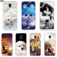 J&R Cute Animals Silicon Phone Covers for Huawei Ascend Y360 Y3 Y3C Y336 Y336-U02 Y360-U12 Y360-U42
