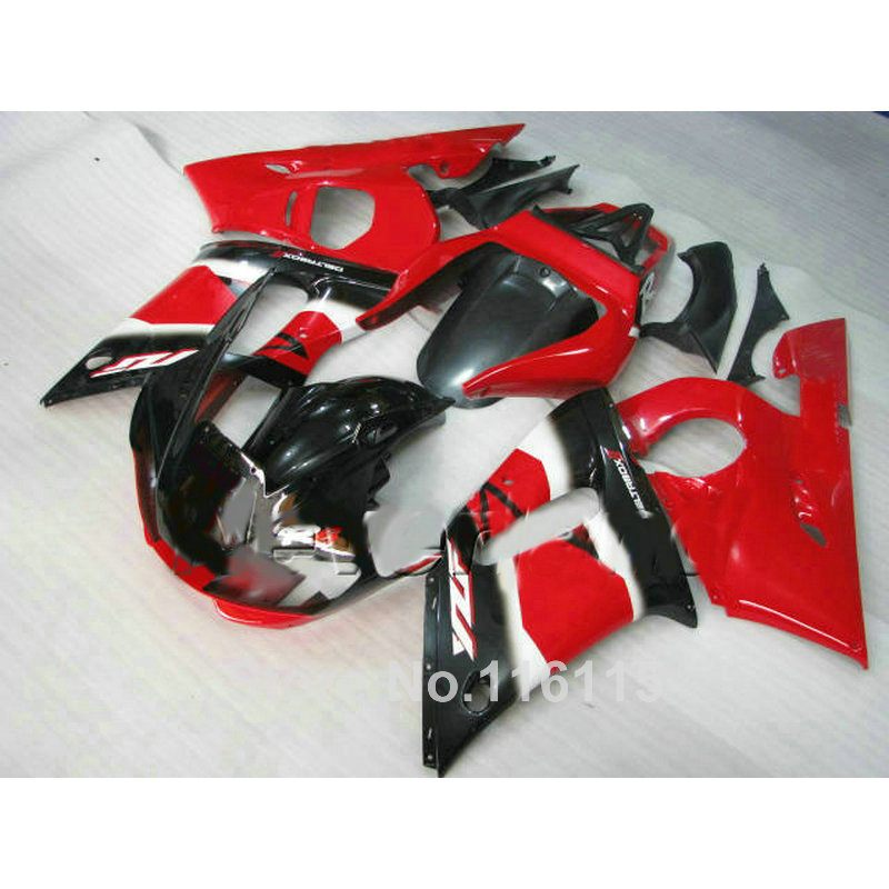 ABS motorcycle parts for YAMAHA 1998-2002 YZF-R6 fairing kit YZF R6 98 99 00 01 02 red black fairings set NX96