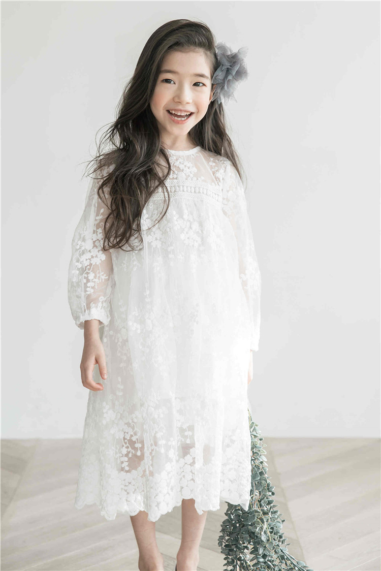 f5ffd9930 Kids Dresses For Girls 2018 Children s Long Sleeve Lace Dress ...