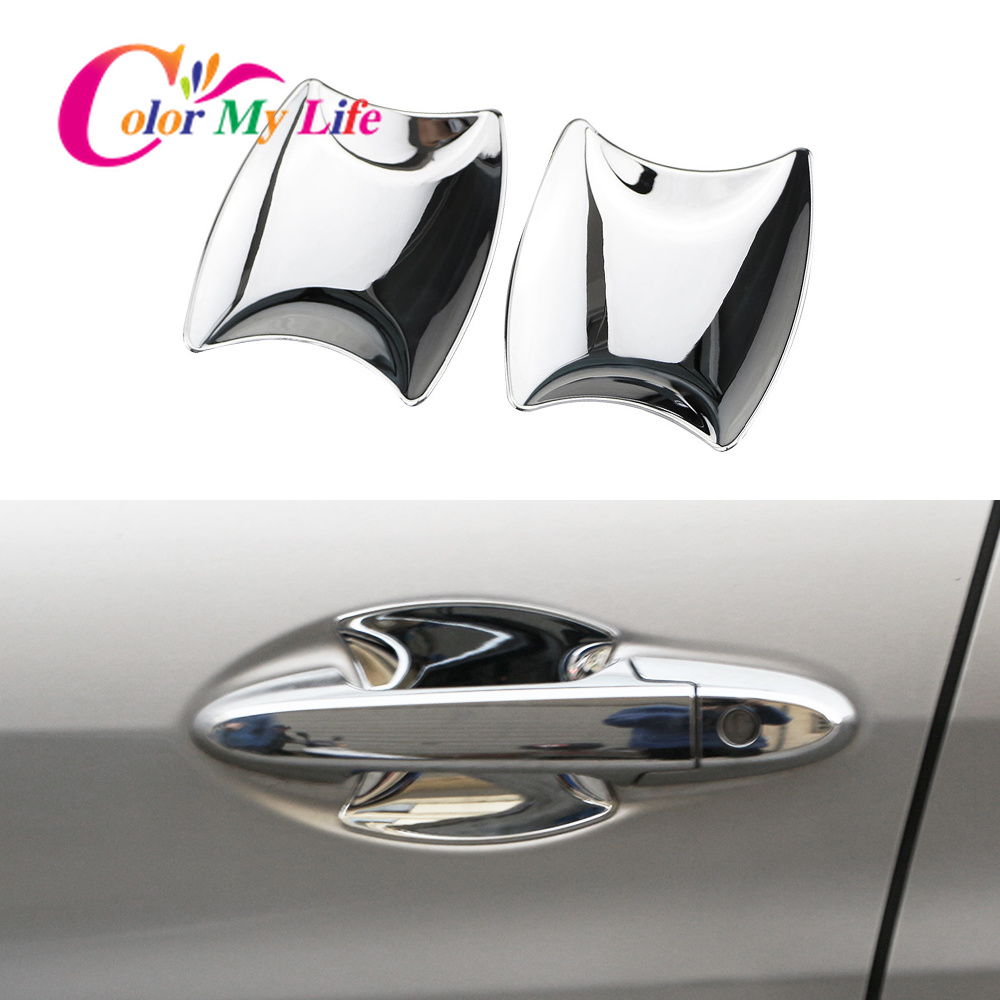 Car Front Door Handle Bowl Cover for <font><b>Honda</b></font> <font><b>HRV</b></font> Vezel HR-V HR V 2014 2015 2016 2017 Chrome Car Door Wrist Protector <font><b>Trim</b></font> Sticker image