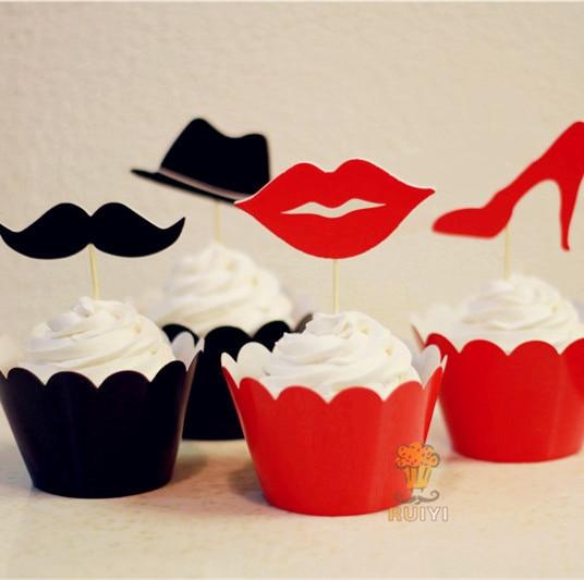 Artículos de fiesta Bandera rusa Cupcake-Rusia Bandera/Cupcake Decoraciones Cupcake Toppers/diversión/