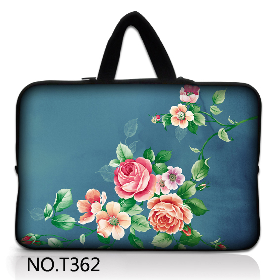 Capable China Rose 7 1012131517 Inch Laptop Bag Neoprene Notebook Case Diving Computer Notebook Sleeve For 17 Inch Laptop Computer & Office
