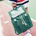 Vintage preppy designer transparent drawstring women men canvas backpack school travel bag teenage girls rucksack mochila casual
