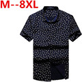 Free shipping plus size brand XXXL 4xl 6xl 8xl 10xl casual shirt summer style men military clothes slim fit short-sleeve shirts
